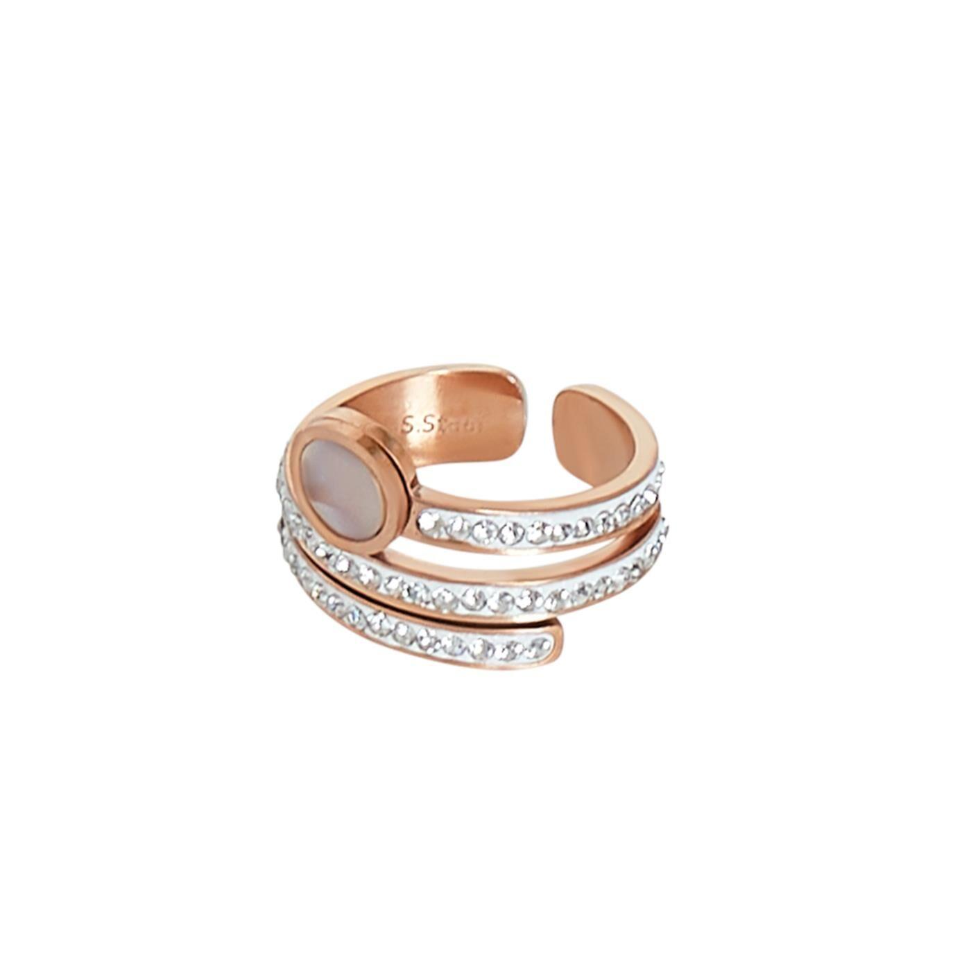 Celestino Δαχτυλίδι με strass  - Ροζ λευκο - Grootte: 18