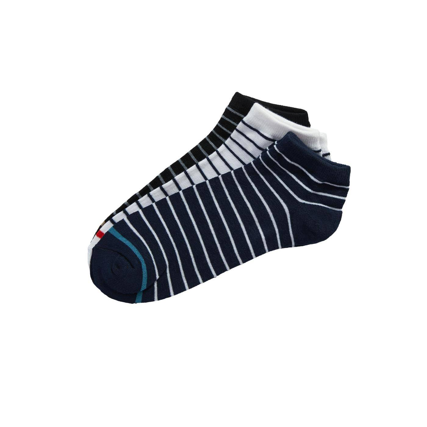Celestino Σετ με 3 ζευγάρια ριγέ ανδρικές κάλτσες  - Μιχ 1 - Grootte: One Size