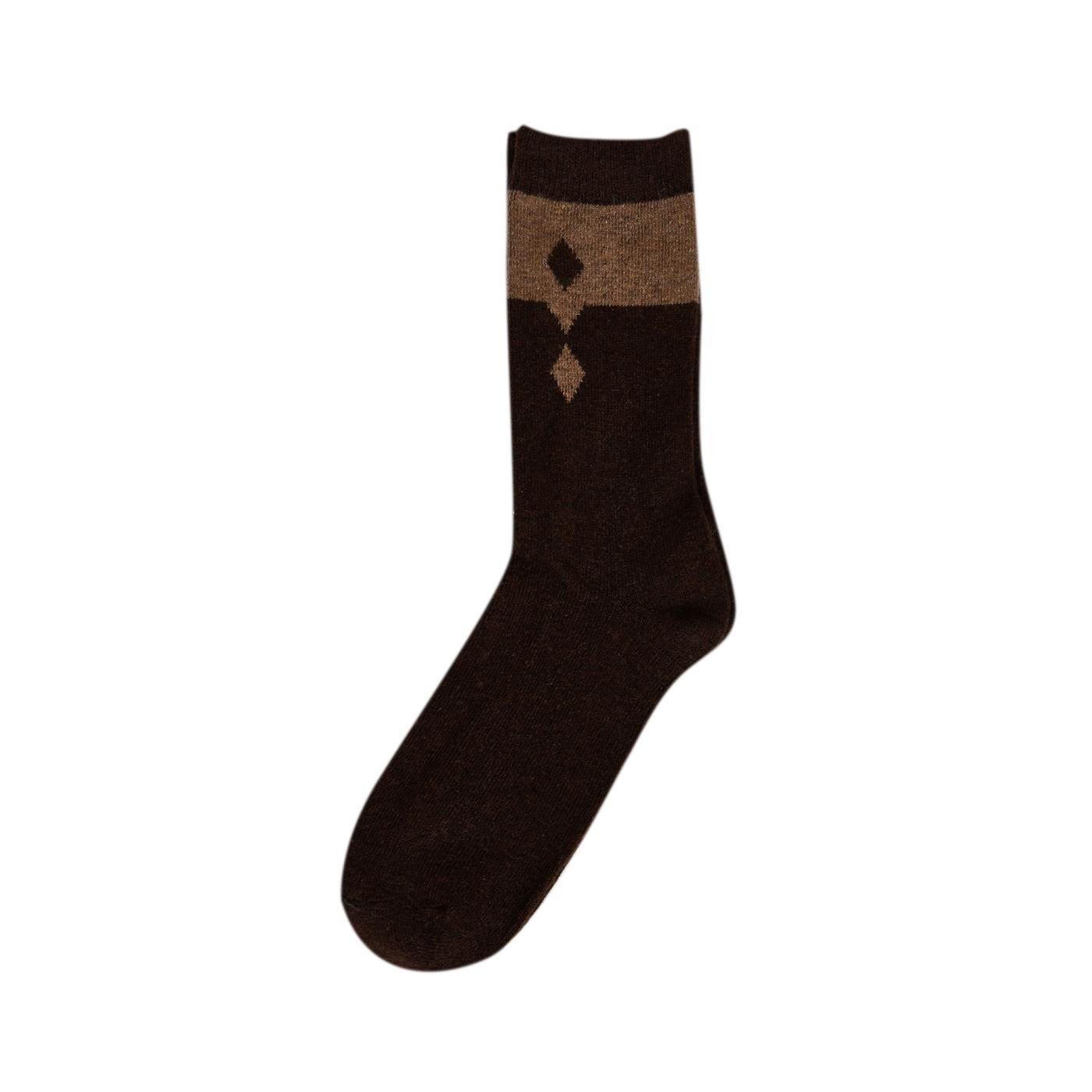 Celestino Aνδρικές κάλτσες με μαλλί  - Καφε σκουρο - Grootte: One Size