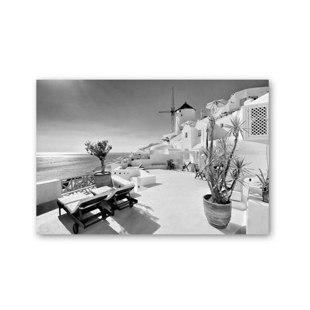 Ankor Πίνακας Καμβάς 796540 90x60 Black-White Ankor Οριζόντιοι Καμβάς