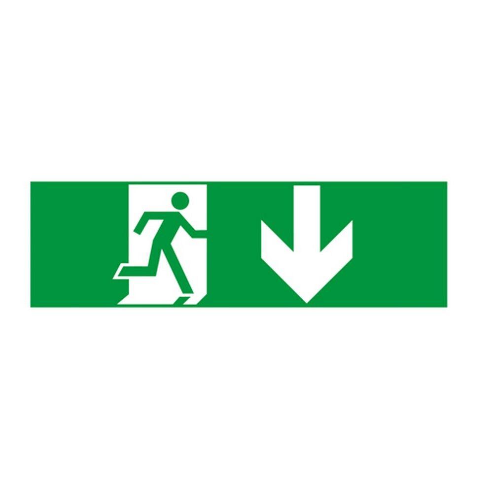 Aca Αυτοκόλλητα Σήματα Για Φωτιστικό Ασφαλείας Hap2 Βέλος Κάτω 60x200 Aca