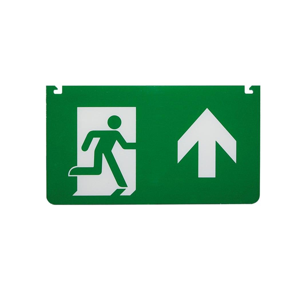 Aca Εξαρτήματα Σήμανσης Myau Βέλος Επάνω Για Φωτιστικό Ασφαλείας Mya260 Aca