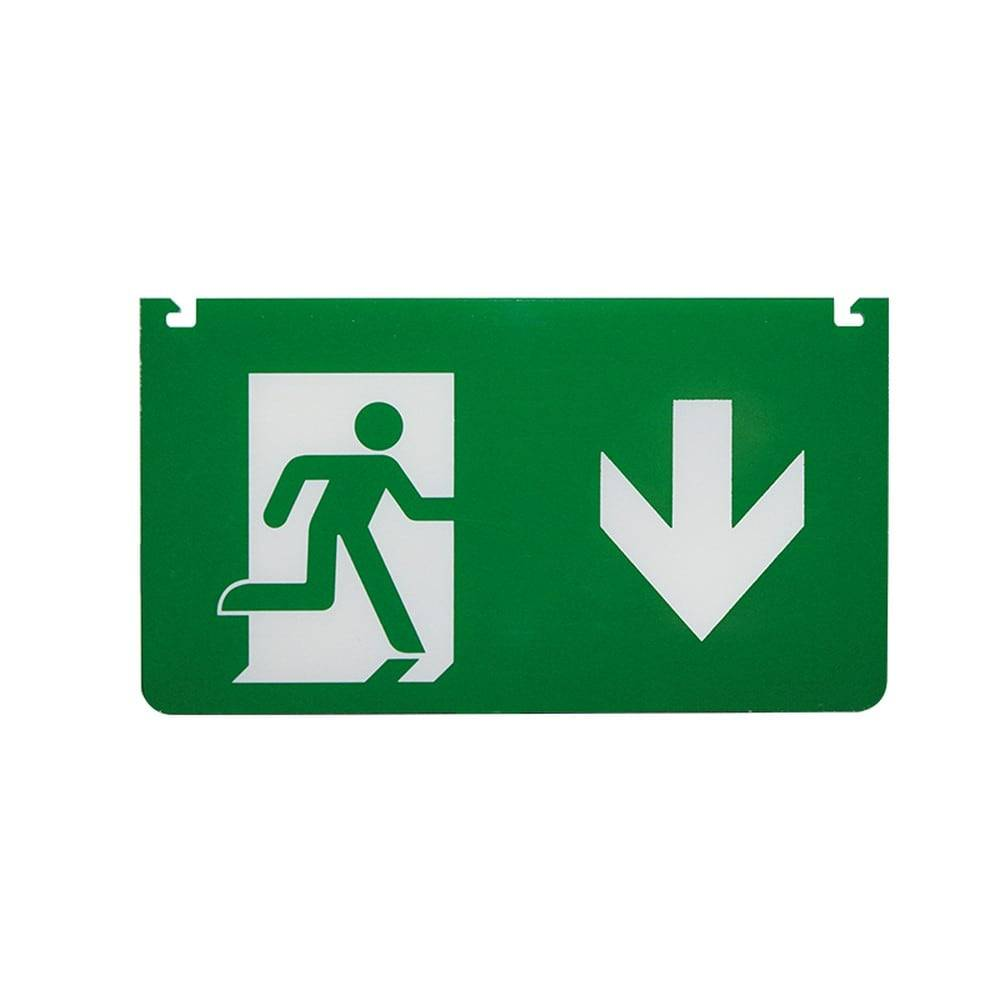 Aca Εξαρτήματα Σήμανσης Myad Βέλος Κάτω Για Φωτιστικό Ασφαλείας Mya260 Aca