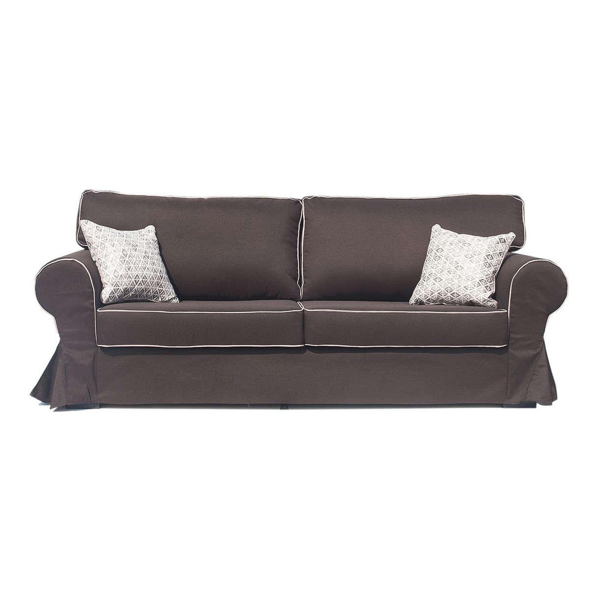 Aidonitsa Καναπές-Κρεβάτι Υφασμάτινος VICTORIA Καφέ KO-VICTORIA3S-20 230x90x90εκ.