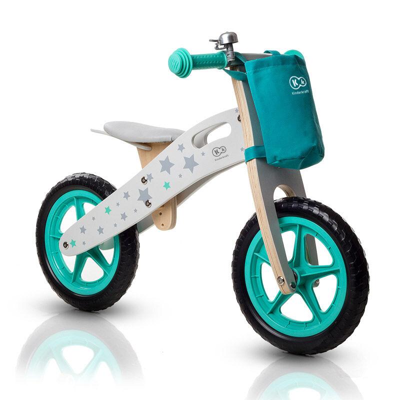 KinderKraft Παιδικό Ξύλινο Ποδήλατο Ισορροπίας Με Αξεσουάρ KinderKraft Runner Stars