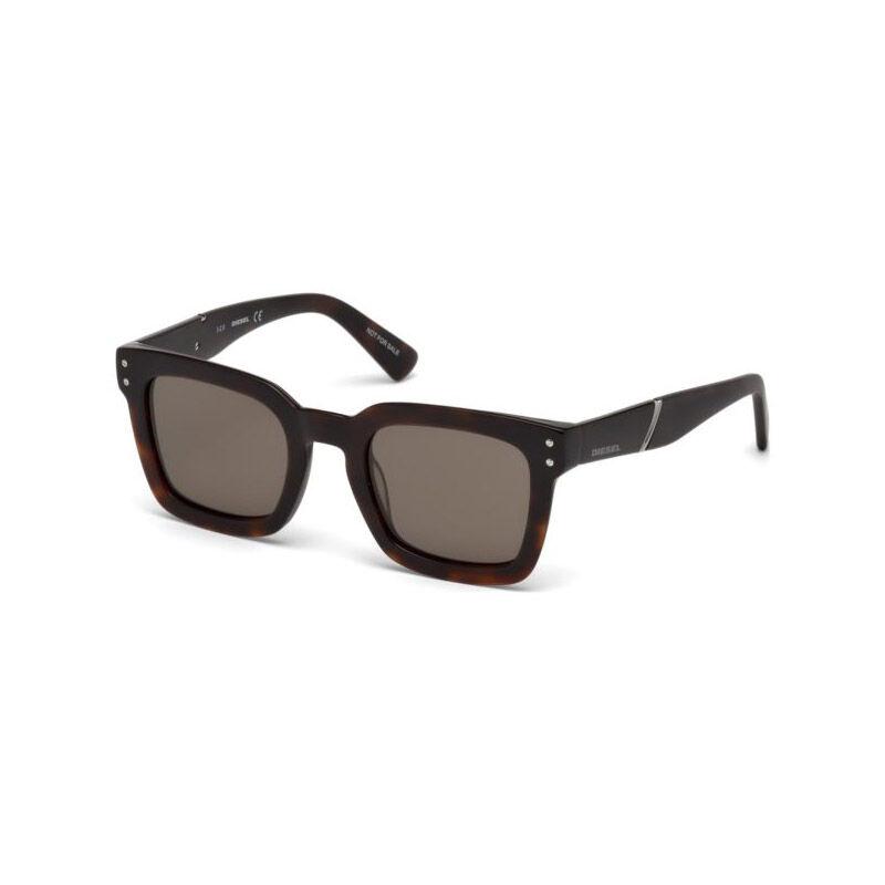 Diesel Unisex Γυαλιά Ηλίου με Πλαστικό Σκελετό και Φακούς Χρώματος Καφέ Diesel DL022952J50