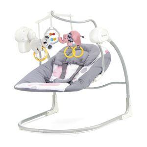 KinderKraft Παιδικό Ρηλάξ - Κούνια 2 σε 1 Χρώματος Ροζ KinderKraft Minky Swing KKBMINKYPNK000