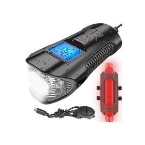 SPM Σετ Φώτα Ποδηλάτου LED με Κόρνα και Ταχύμετρο SPM 12044