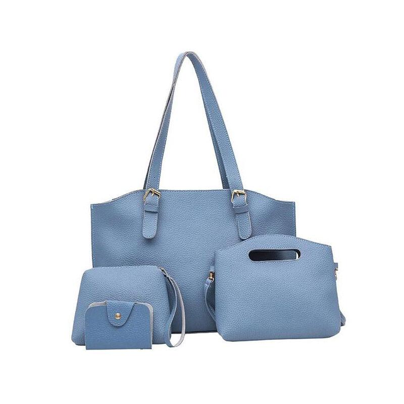 SPM Γυναικείες Τσάντες με Φερμουάρ Σετ 4 τεμαχίων Χρώματος Μπλε SPM DB4603