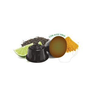 Neronobile Κάψουλες Μαύρου Τσαγιού με Μοσχολέμονο και Κουρκουμά Neronobile