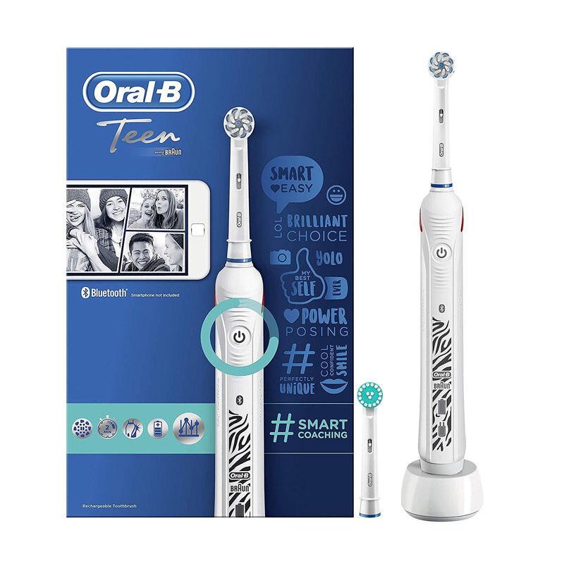Oral-B Επαναφορτιζόμενη Ηλεκτρική Οδοντόβουρτσα Oral-B Teen White