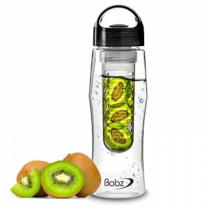 SPM Μπουκάλι με Αποσπώμενο Φίλτρο για Φρούτα Χρώματος Μαύρο 750 ml SPM Fruit Infuser bottles