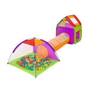 Hoppline Σετ 2 Παιδικές Σκηνές με Τούνελ και 200 Μπάλες Hoppline HOP1000915-1