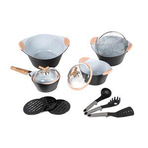 Cecotec Σετ Μαγειρικών Σκευών Cecotec Premium 13 τμχ Χρώματος Μαύρο CEC-010350