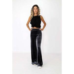 OEM Γυναικείο βελούδινο παντελόνι σε γκρί