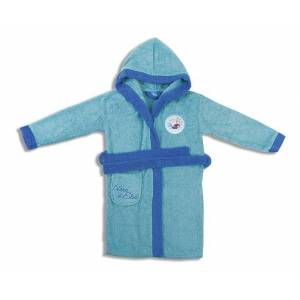 Disney Μπουρνούζι Παιδικό Με Κουκούλα Frozen Dim Collection 2 Ετών - Τυρκουάζ - frozen-robe-tyrkouaz/6/199/102