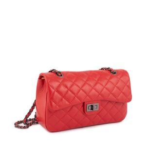 MY OWN Δερμάτινη Τσάντα ώμου - Κόκκινο