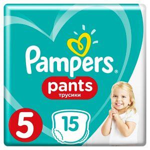 P&G Πάνες-Βρακάκι Pampers Pants Μέγεθος 5 (12-17kg) (15τεμ)
