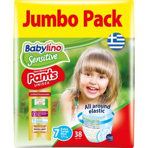 Mega Disposables Πάνες Βρακάκι Babylino Pants Jumbo Pack Unisex Extra Large Plus No.7 (17+kg) (38 τεμ)