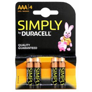 Duracell Μπαταρίες Αλκαλικές Simply AAΑ 4τεμ. Duracell