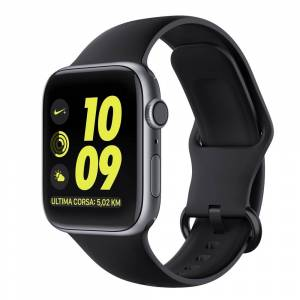 OEM Ανταλλακτικό Λουράκι Σιλικόνης Apple Watch 5/4/3/2/1 (40/38mm) - OEM - Black (60568)