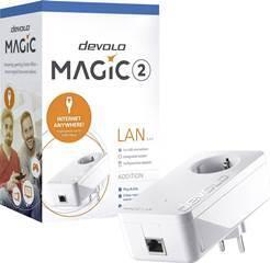 DEVOLO POWERLINE MAGIC 2 LAN 1-1-1 EU SINGLE (8259), 1x MAGIC 2 LAN ADAPTER, 2400Mbps, SHUKO, AC POWER OUT SOCKET, 3YW. - Πληρωμή και σε έως 6 δόσεις