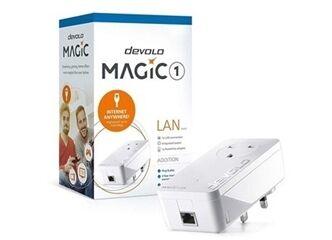 DEVOLO POWERLINE MAGIC 1 LAN 1-1-1 EU SINGLE (8294), 1x MAGIC 1 LAN ADAPTER, 1200Mbps, SHUKO, AC POWER OUT SOCKET, 3YW. - Πληρωμή και σε έως 6 δόσεις