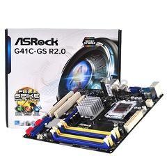 ASRock MB G41C-GS R2.0, SOCKET INTEL LGA775, CS INTEL G41 & ICH7, 2 DIMM SOCKETS DDR3 & 2 DIMM SOCKETS DDR2, VGA INTEL GMA X4500 SHARED MEM, DSUB, LAN GB, MICRO-ATX, 2YW. - Πληρωμή και σε έως 6 δόσεις