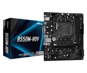 ASRock MB B550M-HDV, SOCKET AMD AM4, CS AMD B550, 2 DIMM SOCKETS DDR4, D-SUB/DVI-D/HDMI, LAN GIGABIT, MICRO-ATX, 2YW. - Πληρωμή και σε έως 6 δόσεις