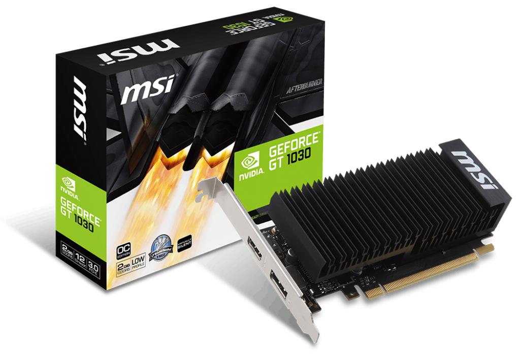 MSI VGA PCI-E NVIDIA GF GT 1030 2GH LP OC, 2GB/64BIT, GDDR5, HDMI/DISPLAY PORT, 2 SLOT HEATSINK, 3YW ((V809-2498R)) - Πληρωμή και σε έως 6 δόσεις