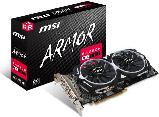MSI VGA PCI-E RADEON RX 580 ARMOR 8G OC, 8GB/256BIT, GDDR5, DL DVI-D/2xHDMI/2x DISPLAY PORT, 2 SLOT FANSINK, 3YW. - Πληρωμή και σε έως 6 δόσεις