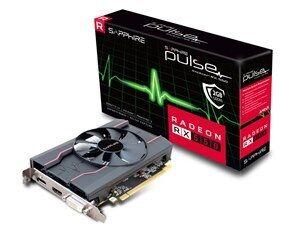 Sapphire VGA PCI-E RADEON PULSE RX 550 2G OC (11268-21-20G), 2GB/128BIT, GDDR5, DVI-D/HDMI/DISPLAY PORT, 1.5 SLOT SINGLE FAN, 3YW. - Πληρωμή και σε έως 6 δόσεις