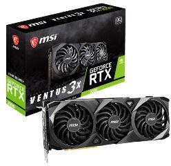 MSI VGA PCI-E NVIDIA GF RTX 3090 VENTUS 3X 24G OC, 24GB/384BIT, GDDR6X, HDMI/3x DISPLAY PORT, 2 SLOT FANSINK, 3YW. - Πληρωμή και σε έως 6 δόσεις