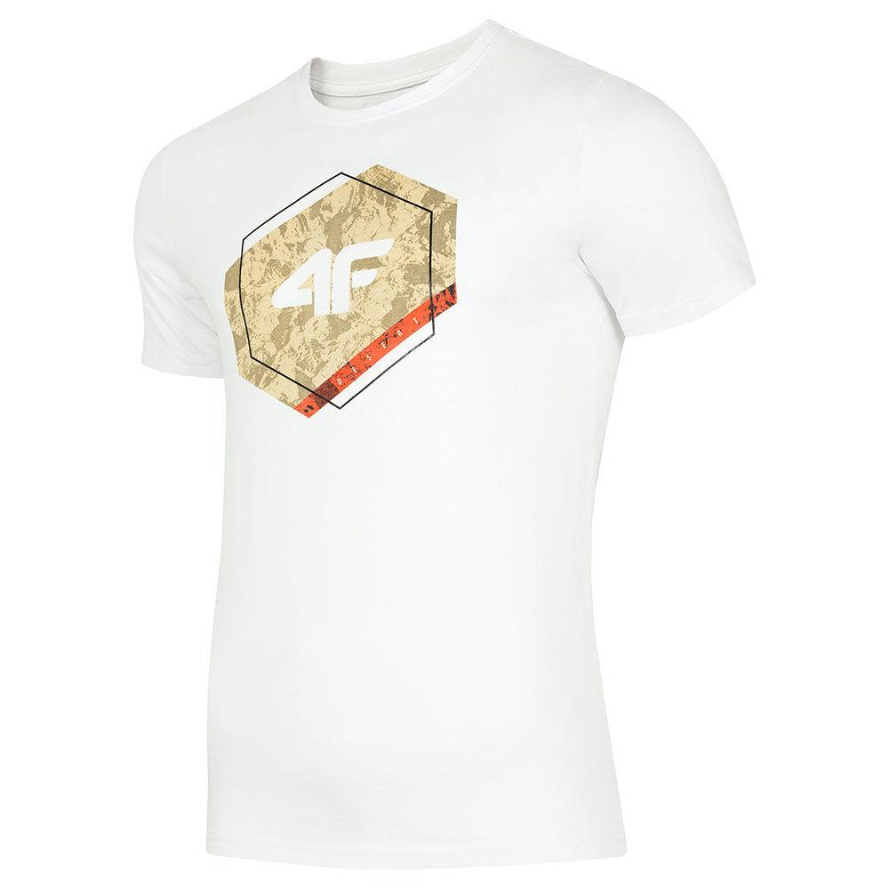 4F Ανδρική Μπλούζα Λευκή H4L19-TSM010-10S  - Λευκό - Size: Large