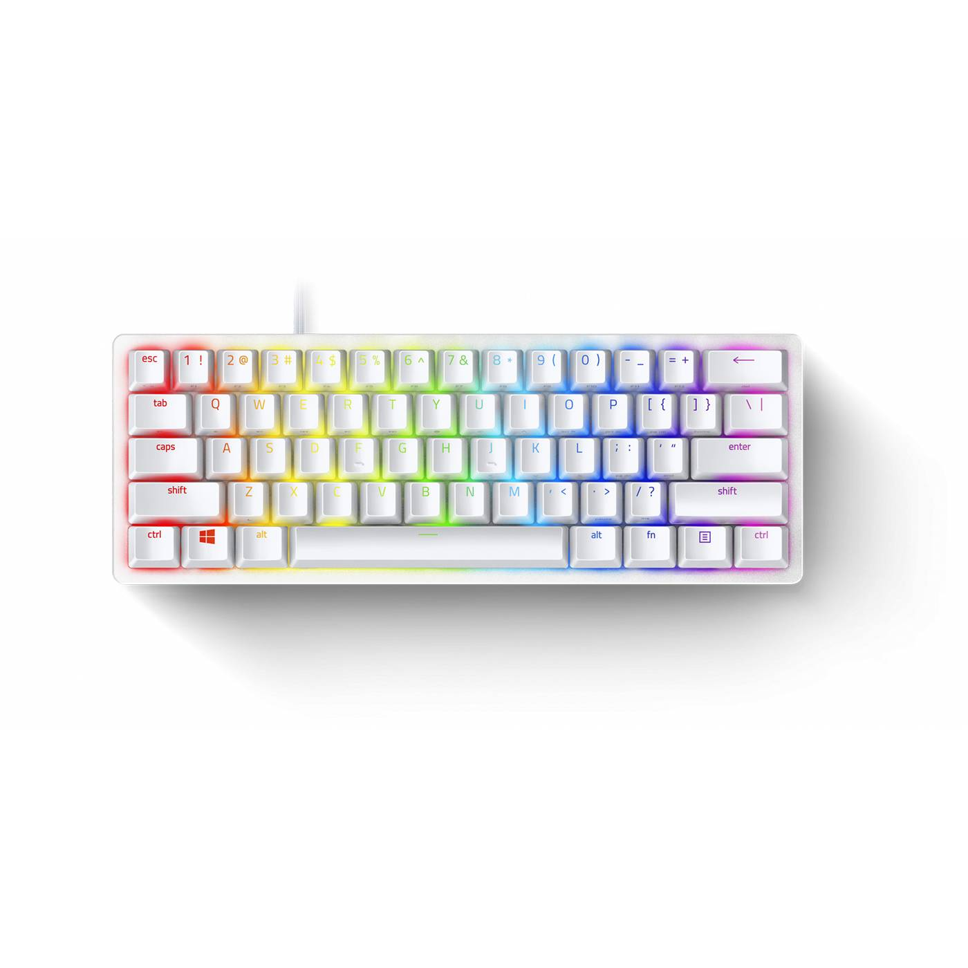 Razer HUNTSMAN MINI MERCURY ED. - 60% Linear Red Opto Mechanical Switch Gaming Keyboard  - US Layout