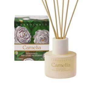 L' ERBOLARIO L'Erbolario Camelia Fragranza per Legni Profumati -125ml - Υγρό διάλυμα για αρωματικά ξυλάκια με άρωμα της σειράς Camelia - Αρωματικές Νότες από: Καμέλια, Ελέμιο Κουμαριά, Tonka, Ambra (Κεχριμπάρι)