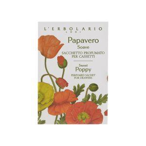 L' ERBOLARIO L'Erbolario Papavero Soave Sacchetto Profumato per Cassetti - Αρωματικό σακουλάκι για Συρτάρια. (1τμχ) με Νότες από: Πέταλα παπαρούνας Davala delle Indie Γιασεμί του νερού Prunella