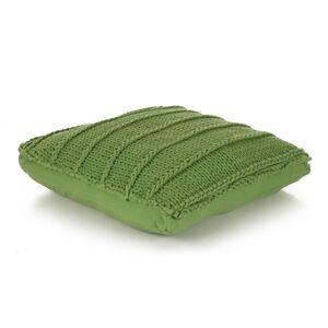 vidaXL négyzet alakú, zöld, kötött pamut padlópárna 60 x 60 cm