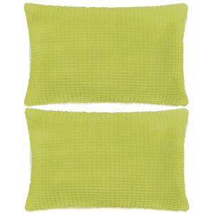 vidaXL 2 db velúr párna 40 x 60 cm zöld