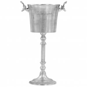 vidaXL ezüstszínű tömör alumínium pezsgőhűtő 39 x 29 x 71 cm