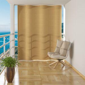 vidaXL bézsszínű HDPE függő erkélytakaró 140 x 230 cm