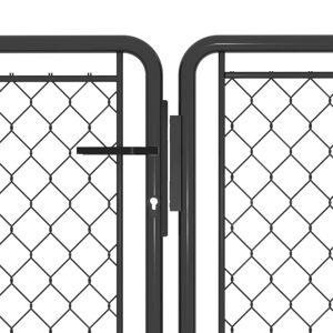 vidaXL antracitszürke acél kertkapu 300 x 75 cm