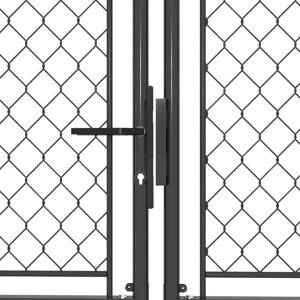 vidaXL antracitszürke acél kertkapu 300 x 200 cm