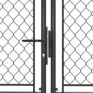 vidaXL antracitszürke acél kertkapu 400 x 150 cm