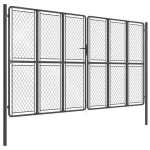 vidaXL antracitszürke acél kertkapu 400 x 175 cm