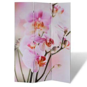 vidaXL virágmintás paraván 120 x 170 cm