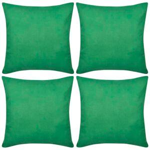 vidaXL 4 db pamut párnahuzat 50 x 50 cm zöld