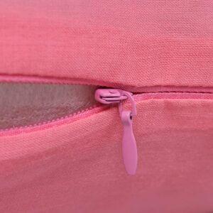 vidaXL 4 db vászon jellegű párnahuzat 40 x 40 cm rózsaszín