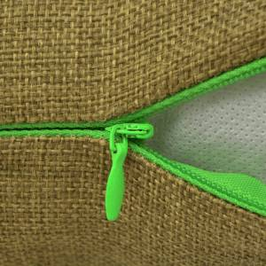 vidaXL 4 db 40x40 cm vászon-jellegű párnahuzat zöld