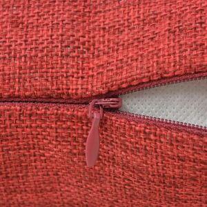 vidaXL 4 db 50x50 cm burgundi vörös vászon jellegű párnahuzat